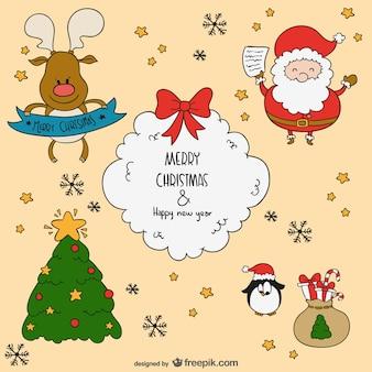 Jagdliche Weihnachtsgrüße.Weihnachten Karikaturen Vektoren Fotos Und Psd Dateien