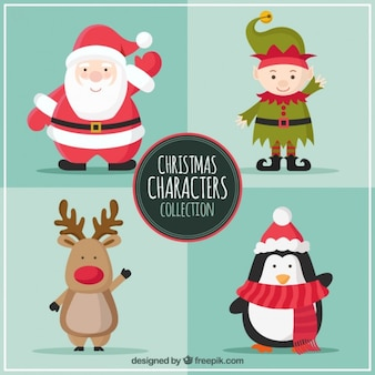 Weihnachten characters kollektion