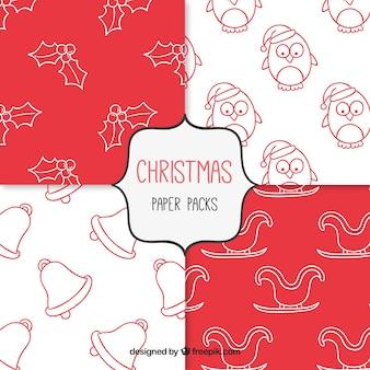 Weihnachten Doodles Pack   Download der kostenlosen Vektor