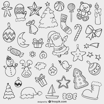Weihnachten doodles pack