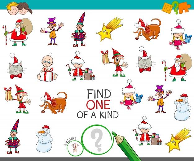 Weihnachten ein bild eines netten karikaturspiels