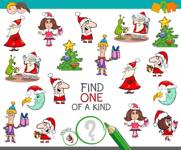 Weihnachten einer netten cartoon-aktivität