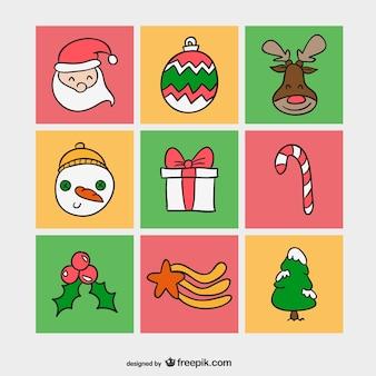 Weihnachten elemente packen