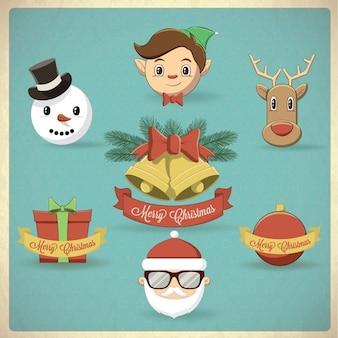 Weihnachten elemente und symbol