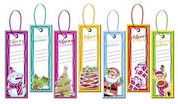Weihnachten etiketten sammlung