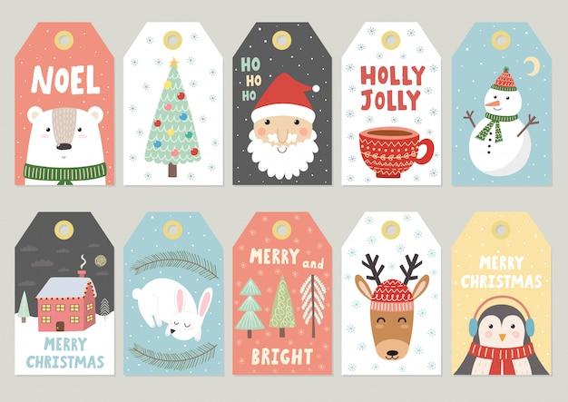 Weihnachten etikettiert nette sammlung