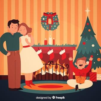 Weihnachten familienhintergrund
