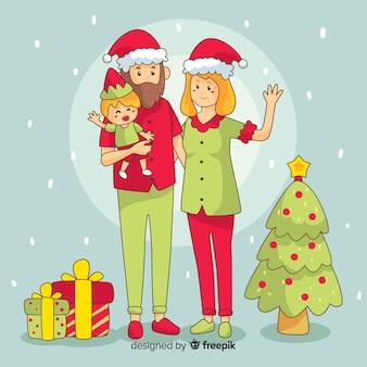 Weihnachten familienszene