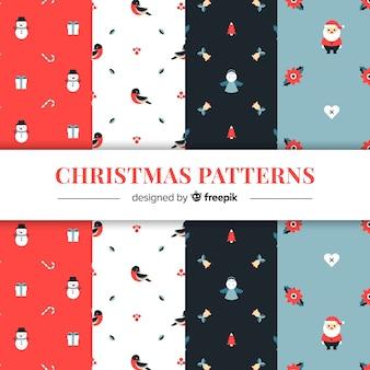 Weihnachten flache elemente muster