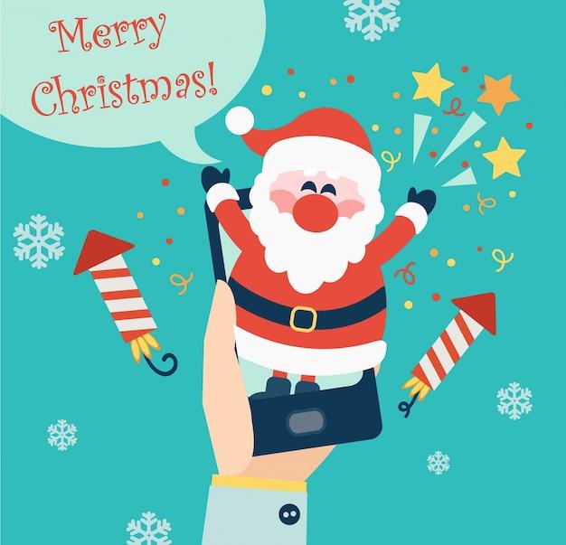 Weihnachten für die mobile app.