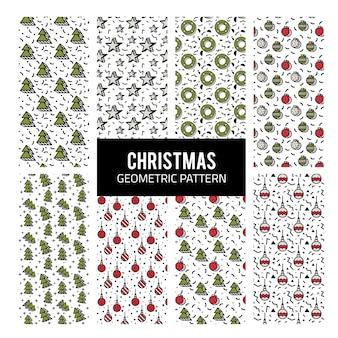 Weihnachten geometrisches muster