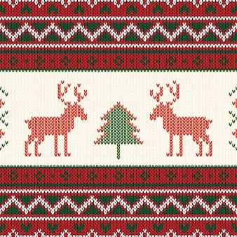 Weihnachten gestricktes muster.