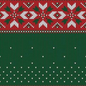 Weihnachten gestricktes nahtloses muster. Premium Vektoren