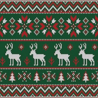 Weihnachten gestricktes nahtloses muster.