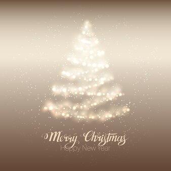 Weihnachten glänzenden baum