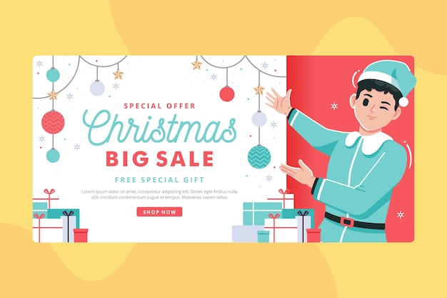 Weihnachten großen verkauf banner illustration