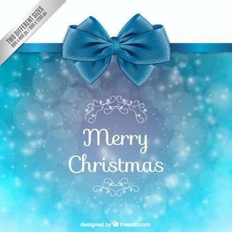 Weihnachten hellblauen hintergrund mit bow