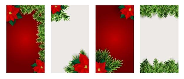 Weihnachten hilidat hintergrund für instagram stories post set