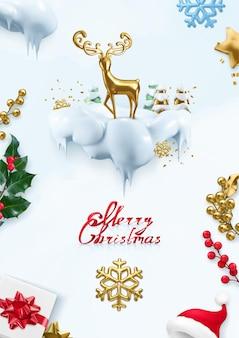 Weihnachten hintergrund. 3d-vektor-illustration