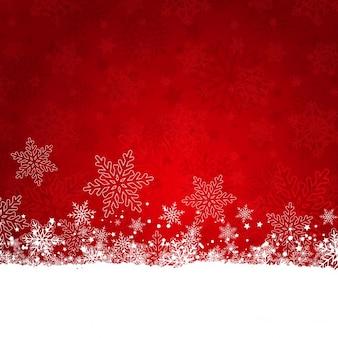 Weihnachten hintergrund der schneeflocken und sternen