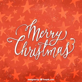 Weihnachten hintergrund mit hand dranw sterne