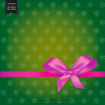Weihnachten hintergrund mit rosa schleife