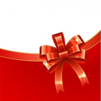 Weihnachten hintergrund mit roten glänzenden schleife