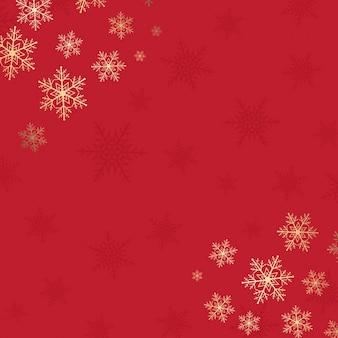 Weihnachten hintergrund mit schneeflocken-design