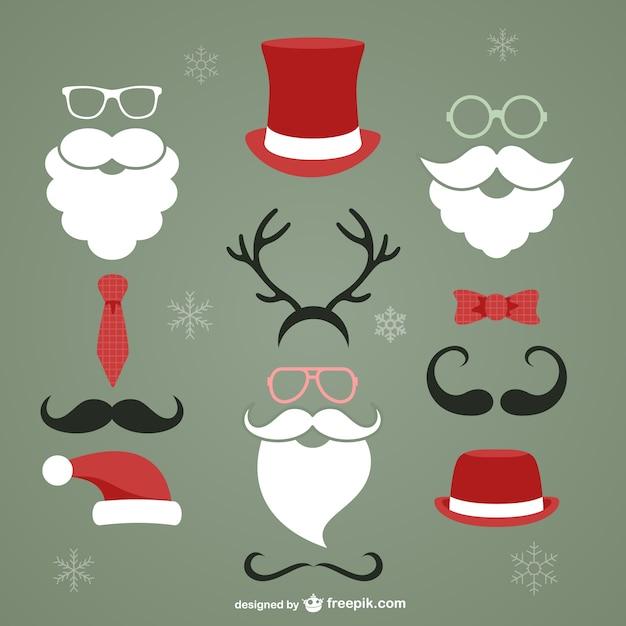 Weihnachten hipster elemente