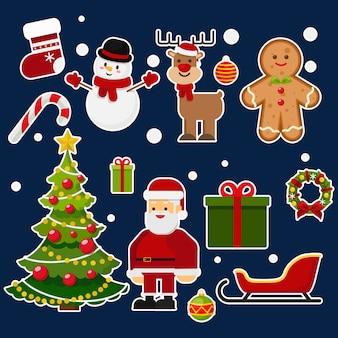 Weihnachten illustration vektor festgelegt