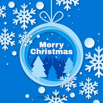 Weihnachten im papierstil
