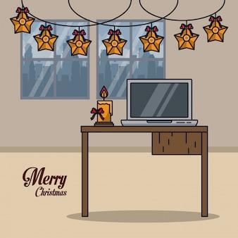 Weihnachten in der büroabbildung