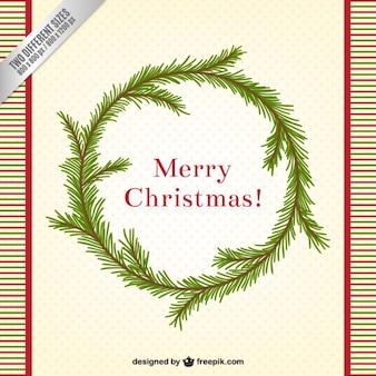 Weihnachten kranz der blätter hintergrund