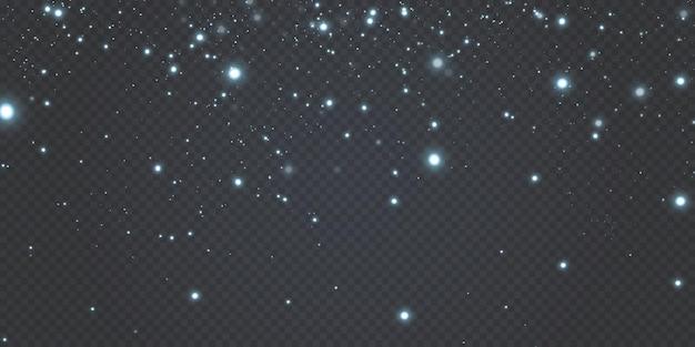 Weihnachten leuchtendes bokeh-konfetti und funken-overlay-textur