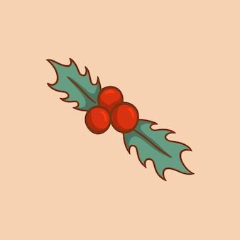 Weihnachten mistel ornament symbol social media post weihnachten dekorative vektor-illustration