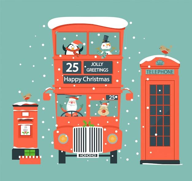 Weihnachten mit englischen symbolen gesetzt.