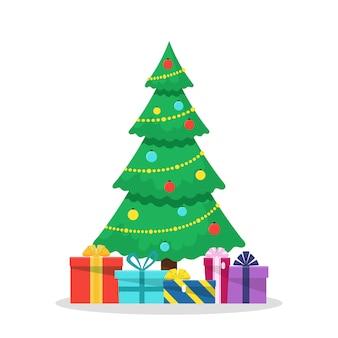 Weihnachten mit geschmücktem baum