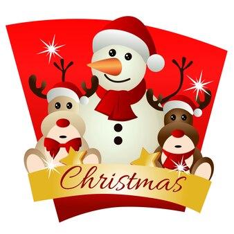 Weihnachten mit renpuppenthema-schneemann
