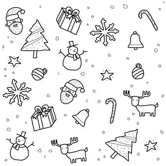 Weihnachten muster gekritzel