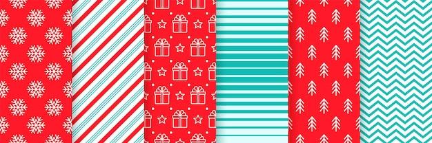 Weihnachten nahtlose hintergrund. festliches weihnachtsmuster. vektor-illustration.