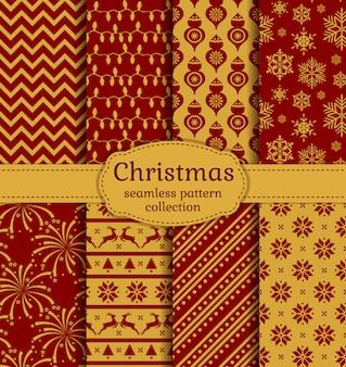 Weihnachten nahtlose muster. einstellen.