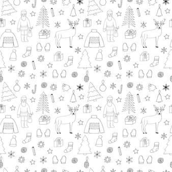 Weihnachten nahtlose muster-vektor-illustration