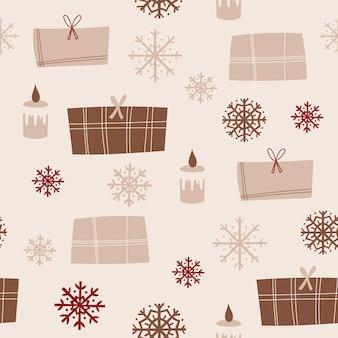 Weihnachten nahtlose musterdesign mit geschenken. vektor-illustration.