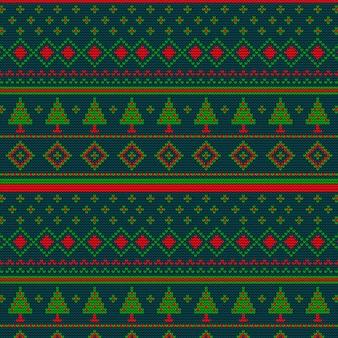 Weihnachten nahtlose strickmuster