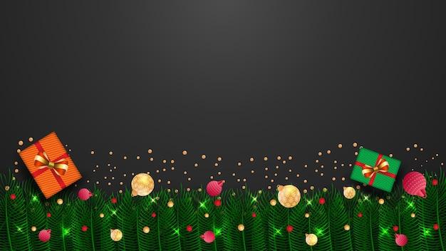 Weihnachten neujahr hintergrund festliche glaskugel winterprüfungen