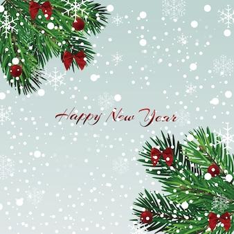 Weihnachten, neujahr illustration. grußkarte.