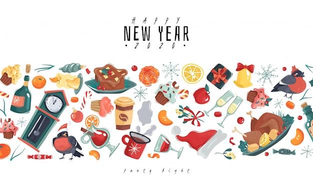 Weihnachten neujahr illustration