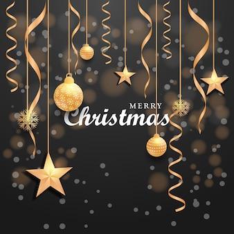 Weihnachten neujahr modernes hintergrunddesign festliche glaskugel-winterprüfungen