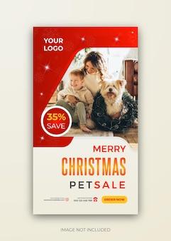 Weihnachten neujahr pet sale instagram story template design