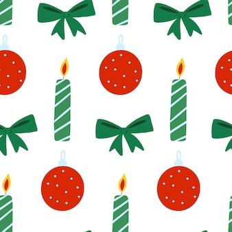Weihnachten neujahr vektor nahtlose muster xmas flach wiederholen print winterurlaub design
